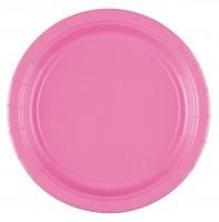 8 Papier-Teller Mila rosa 17,7cm