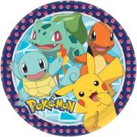 8 Pokémon Meister Pappteller 23cm
