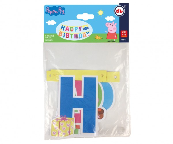 Peppa Pig rainbow garland 2.3m