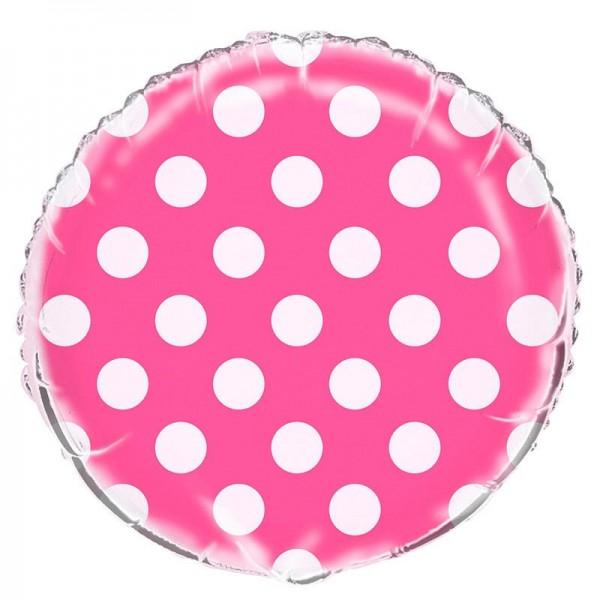 Ballon aluminium rose à pois 45cm