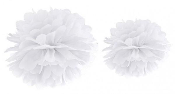 Pompon Romy blanc 25cm