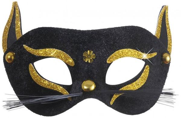 Gold Katzen Augenmaske