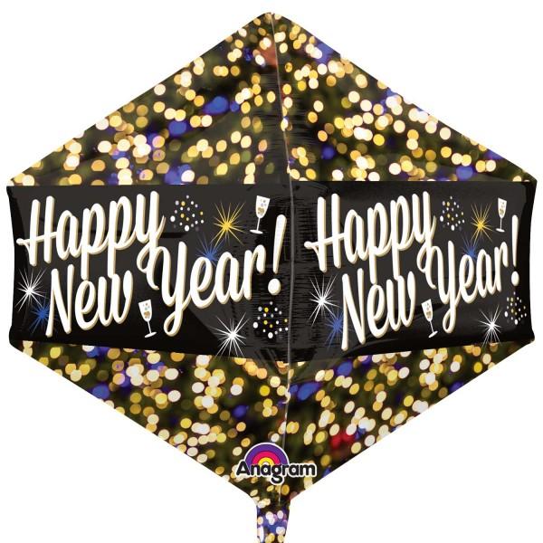 Ballon Diamant Fête du Nouvel An scintillant 43 x 53 cm