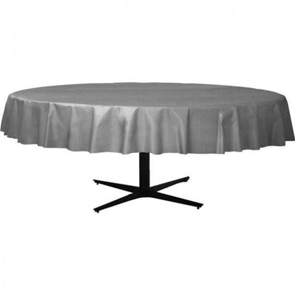 Silver tablecloth around 2.1m