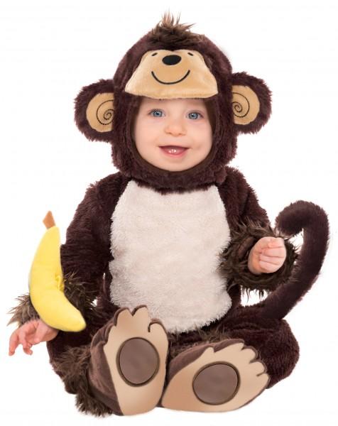 Déguisement bébé singe doux