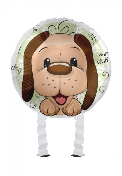 Small dog Airwalker foil balloon 43cm