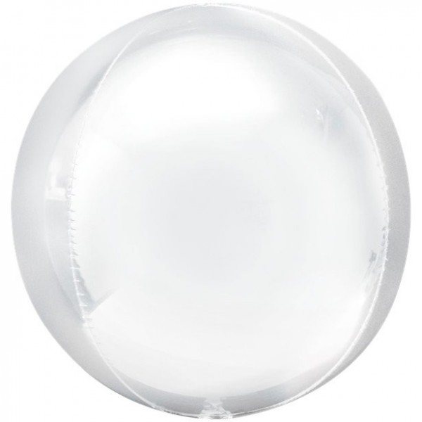 White spherical balloon Heaven 41cm