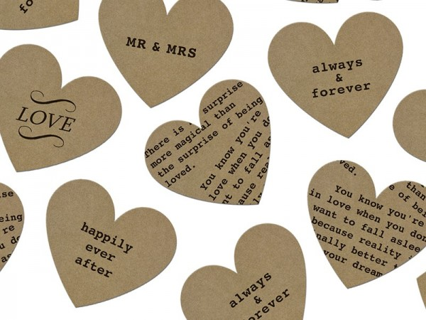 Deklaracja miłości konfetti serca 3g