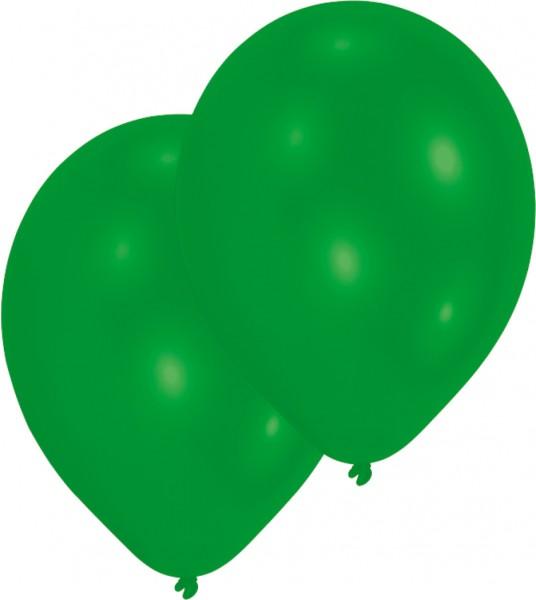 Set di 50 palloncini verde 27,5 cm