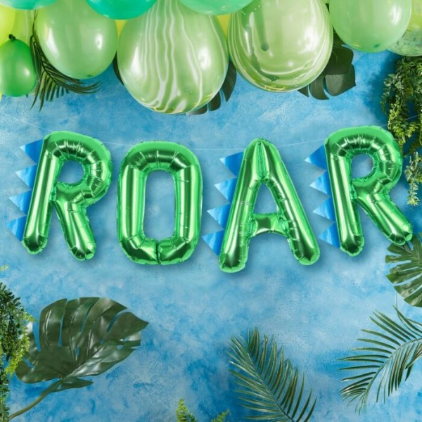 Dino Roar foil balloon garland