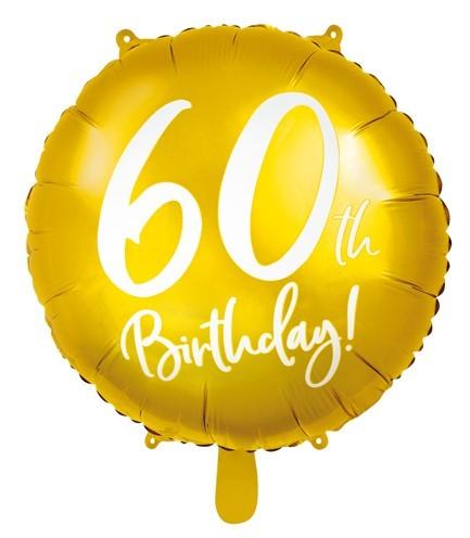 Ballon aluminium brillant 60e anniversaire 45cm