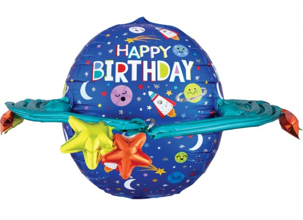 Ballon aluminium voyage spatial 78cm