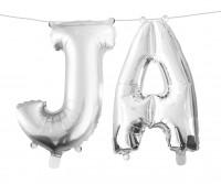 XXL Folienballon Set Sag Ja silber 75cm