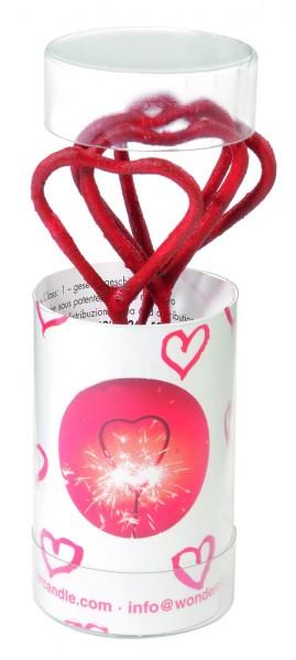 4 Valentin Herz Wunderkerzen 11cm