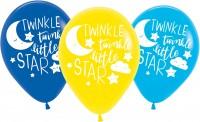 6 Twinkle Little Star Ballons 27,5cm