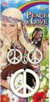 Peace Kette und Ohrring Set