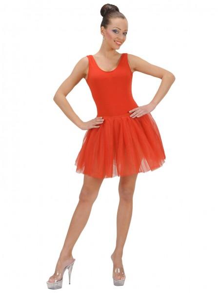 Red ballerina tutu skirt