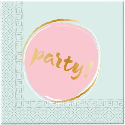 20 pastel party napkins 33cm