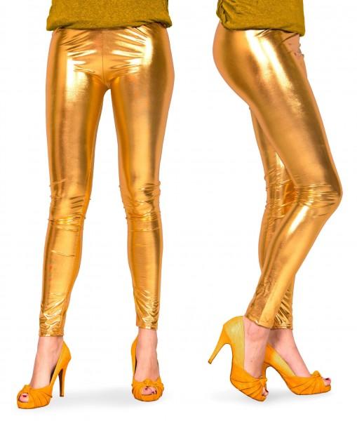 Gouden metallic discolegging