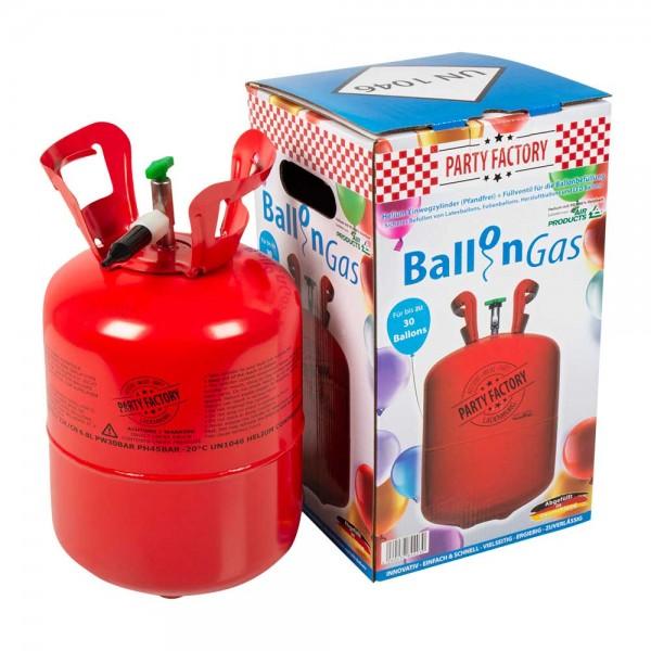 Helium Einwegflasche für bis zu 30 Ballons 1