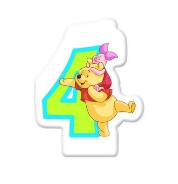 Winnie Puuh Geburtstagsparty Nummer 4 Tortenkerze 5cm