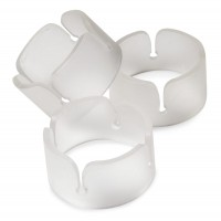 6 Ballonclip Ringe in Transparent