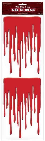 2 Bloody Hell Blutspuren Sticker 49 x 16cm