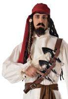 Captain Jack Piraten Gürtel Braun
