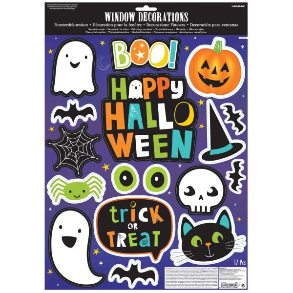 17 Halloween venner vindues klistermærker