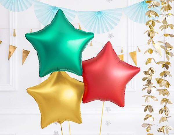 Folienballon green Star matt 48cm