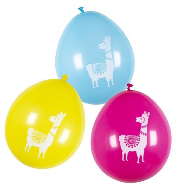6 Lama Zirkus Luftballons 25cm