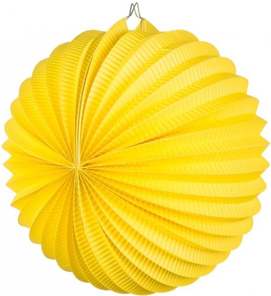 Farol amarillo de papel fiesta en el jardín 23cm