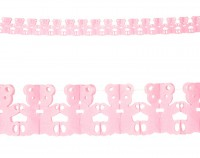 Babyparty Girlande Rosa 3m