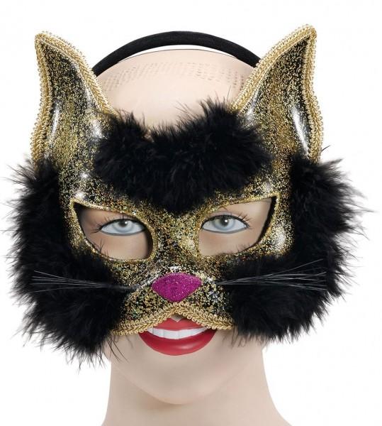 Goldene Glitzer Maske