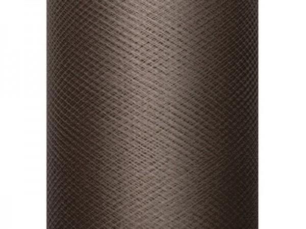 Tüll auf Rolle Braun 30cm x 50m
