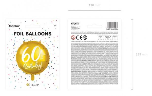 Glossy 60th Birthday Folienballon 45cm