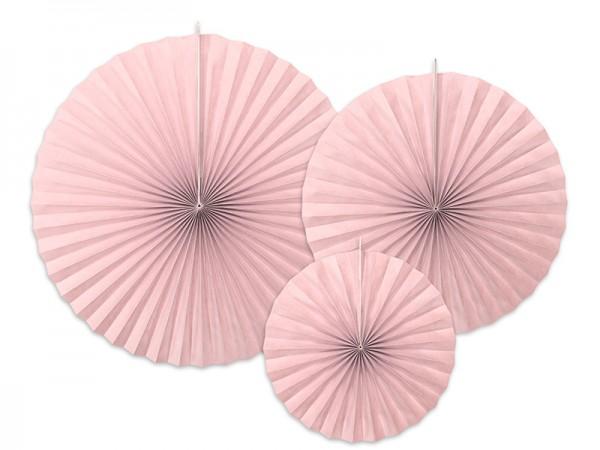 3 rosaces en papier Elenor vieux rose