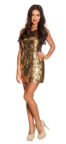 Goldenes Disco Girl Paillettenkleid