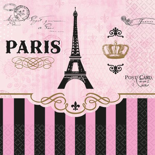 16 Tag in Paris Servietten 25cm