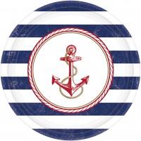 8 Maritime Sommer Pappteller 27cm