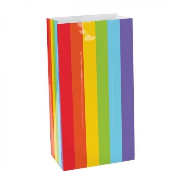 12 Geschenktüten Regenbogen 16,5cm
