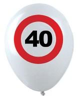 12 Verkehrsschild 40. Geburtstag Luftballons