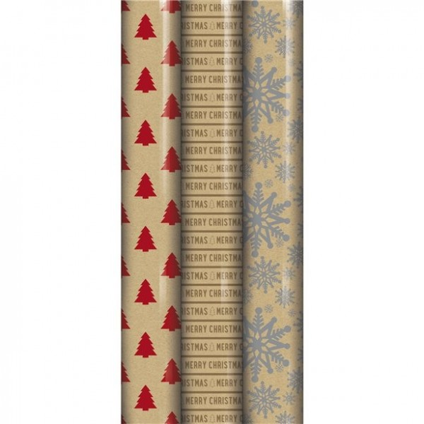 Papel de regalo navideño 2m