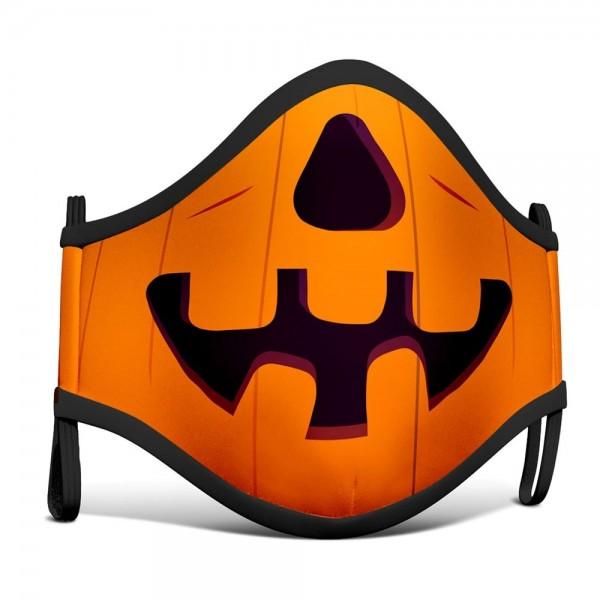Mund-Nase-Maske Halloween Kürbis für Kinder