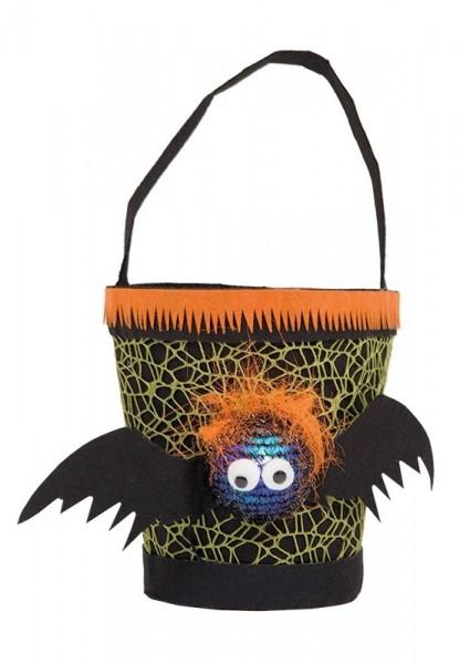 Trick or Treat Fledermaus Eimerchen LED