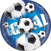 10 Kick & Goal Fußball Pappteller 20cm