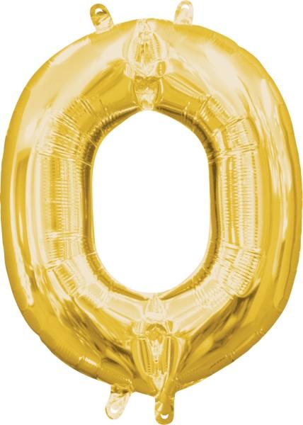 Mini globo foil letra O dorado 35cm