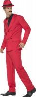 Gangster Gentleman Kostüm Deluxe In Rot