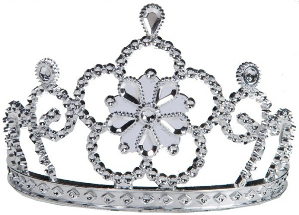 Noble silver luster flower crown