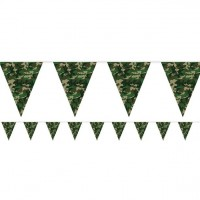 Camouflage Wimpelkette 3,7m